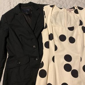 Banana Republic Blazer and Polka Dot Dress Combo